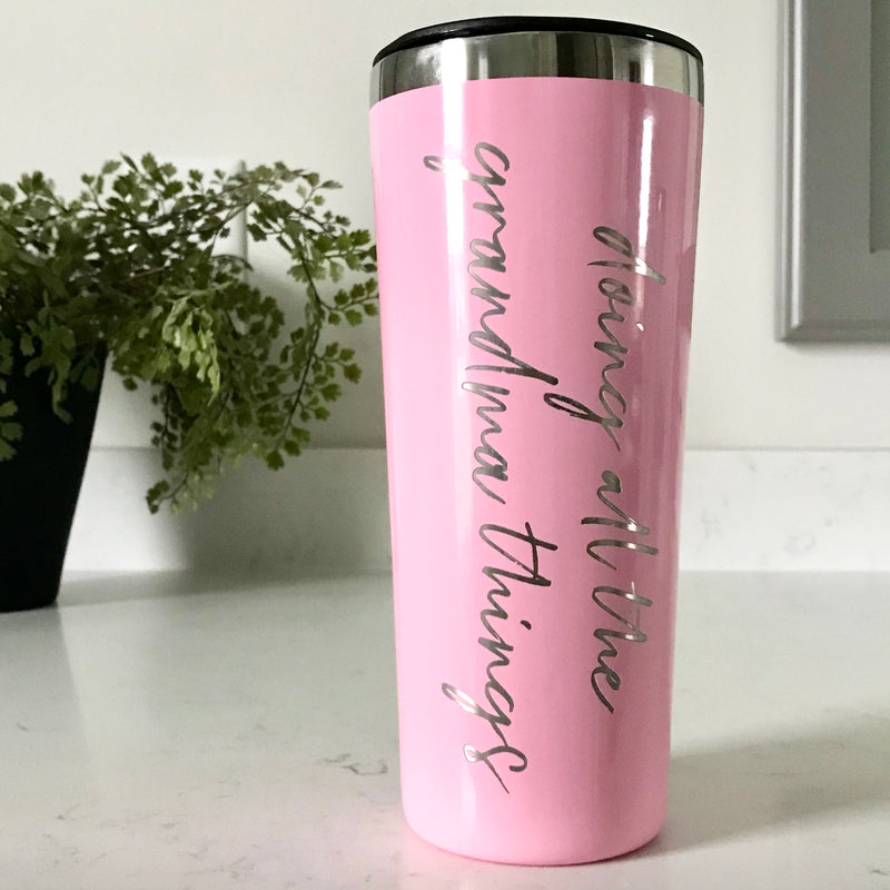 Doing All The Grandma Things Stainless Steel Tumbler - Carnation