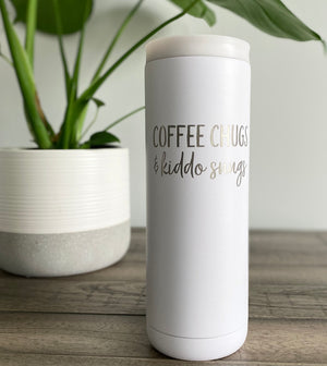 Coffee Chugs & Kiddo Snugs 20 oz Stainless Steel Tumbler - Matte White