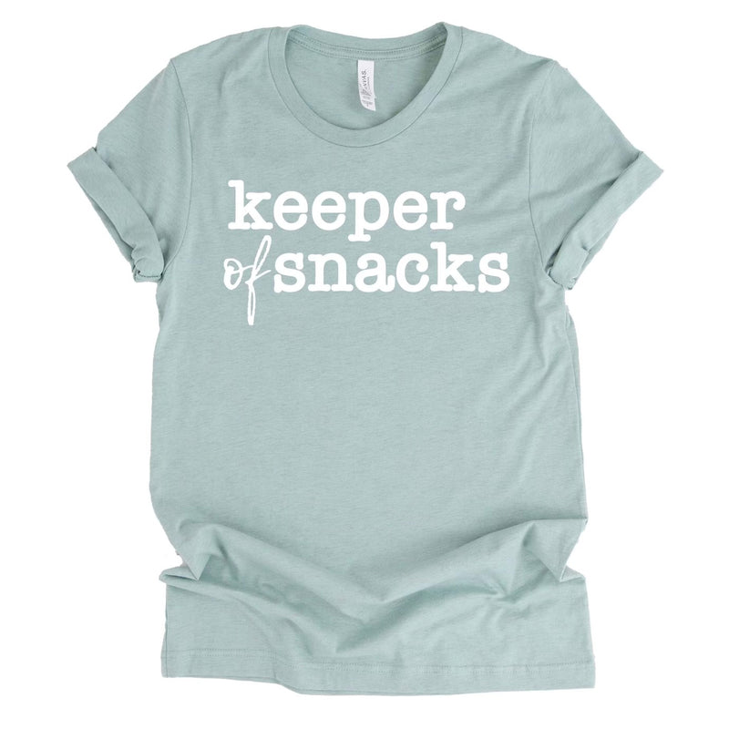 Keeper of Snacks T-shirt - Heather Prism Dusty Blue