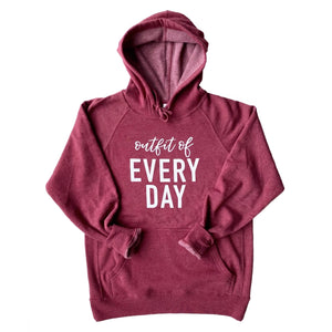 Outfit of Every Day Hoodie - Crimson