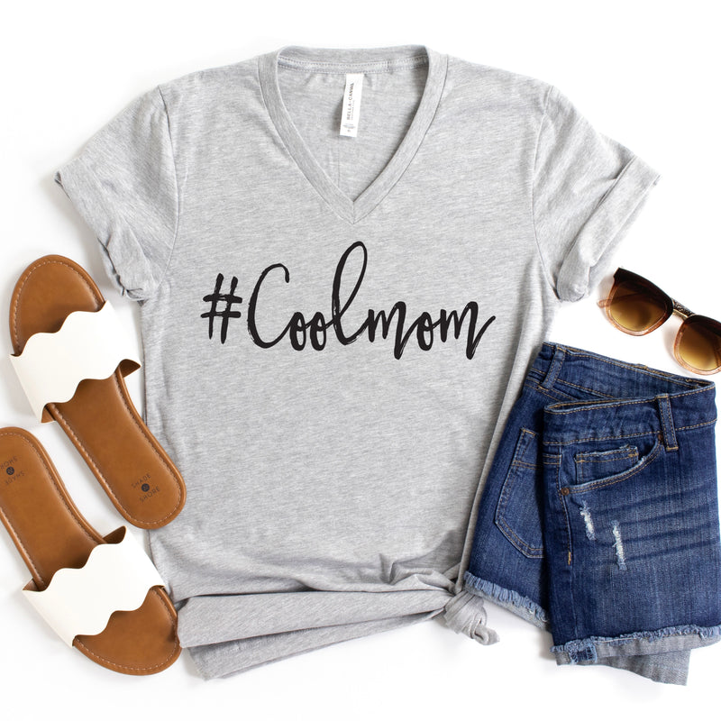 #Coolmom T-shirt - Athletic Heather Gray