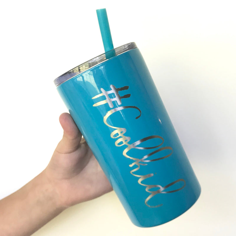 #Coolkid Mini Stainless Steel Tumbler - Blue