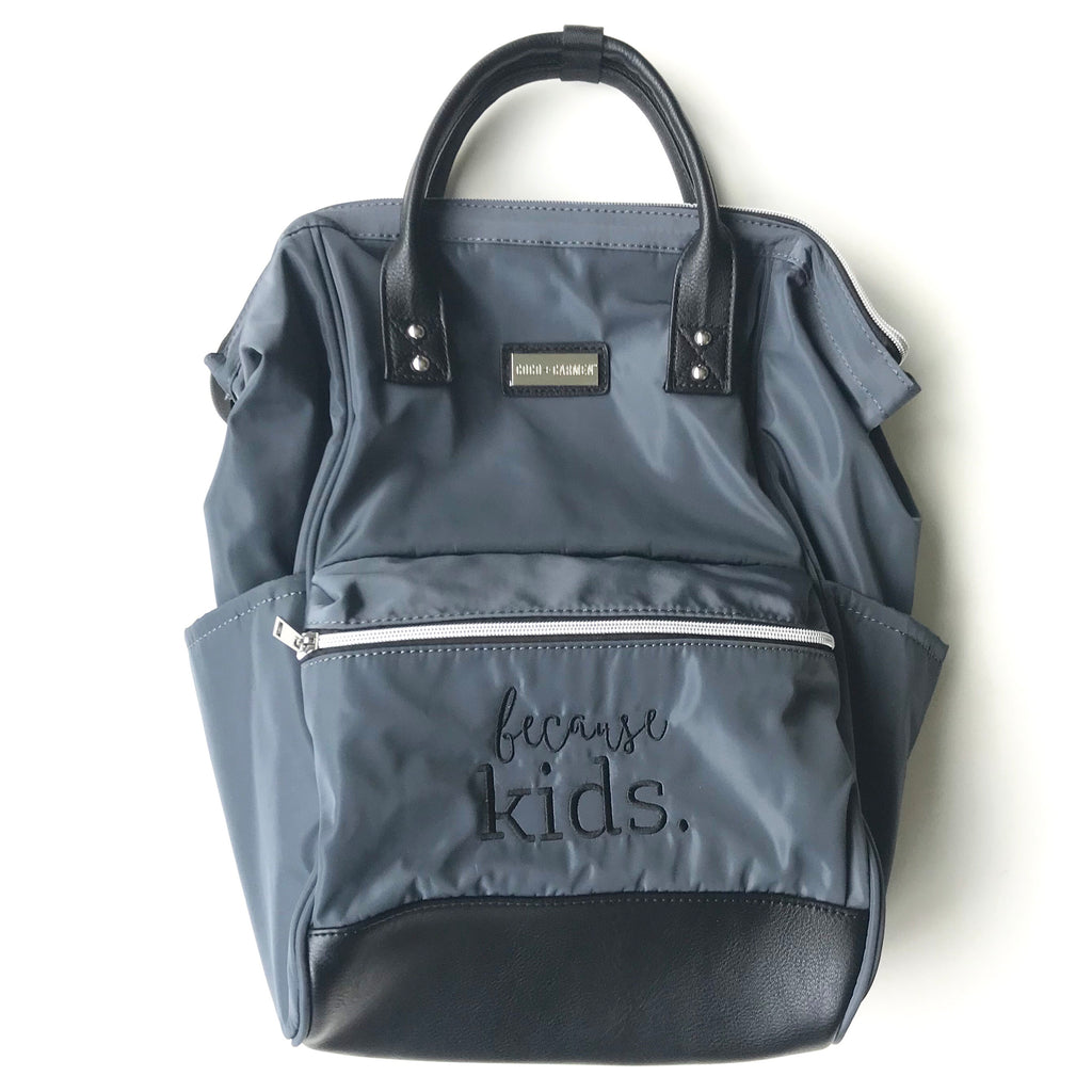 Because Kids Backpack - Charcoal