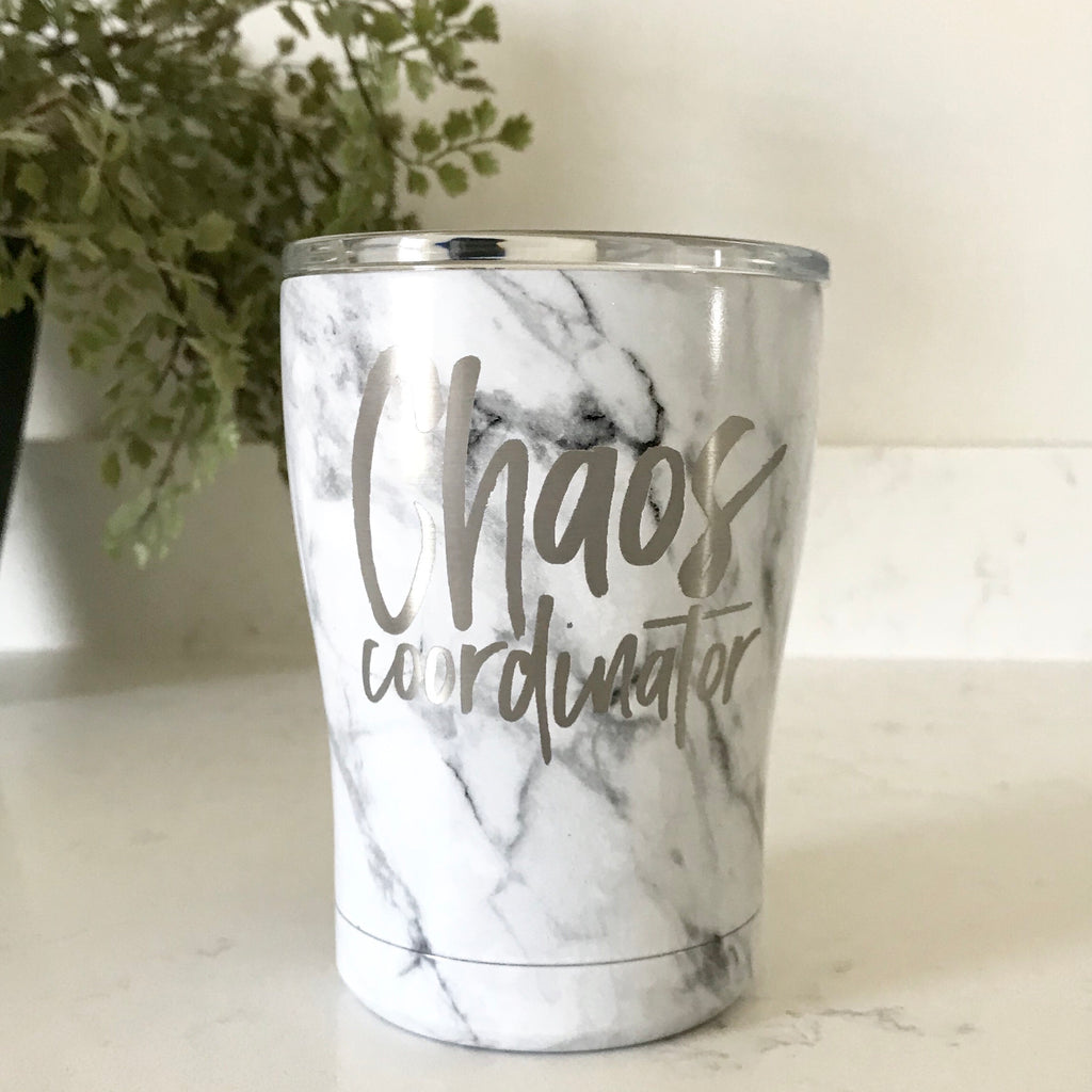 Chaos Coordinator Stainless Steel Rollie Tumbler - Marble