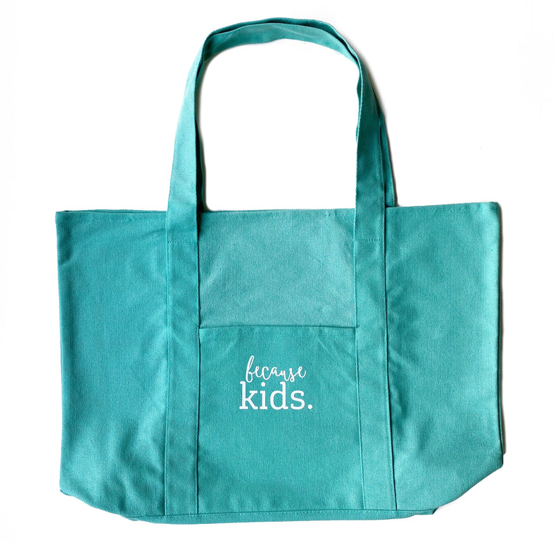Because Kids Tote - Sea Glass