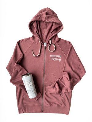 Coffee Chugs & Baby Snugs Zip-Up Hoodie