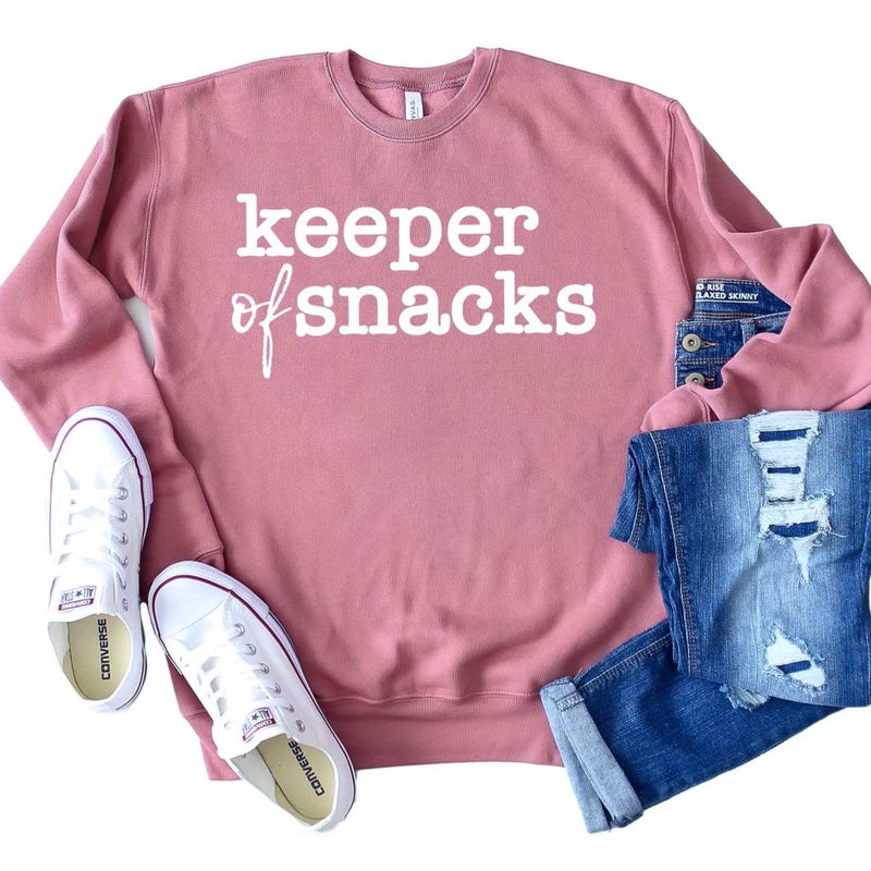 Keeper of Snacks Pullover - Mauve