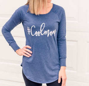 #Coolmom Long Sleeve Tunic - Blush Shimmer Ink