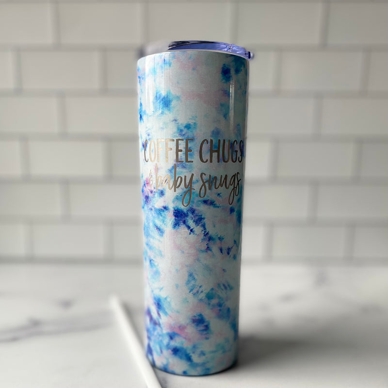 Coffee Chugs & Baby Snugs Stainless Steel Tumbler - 20 oz Tie Dye