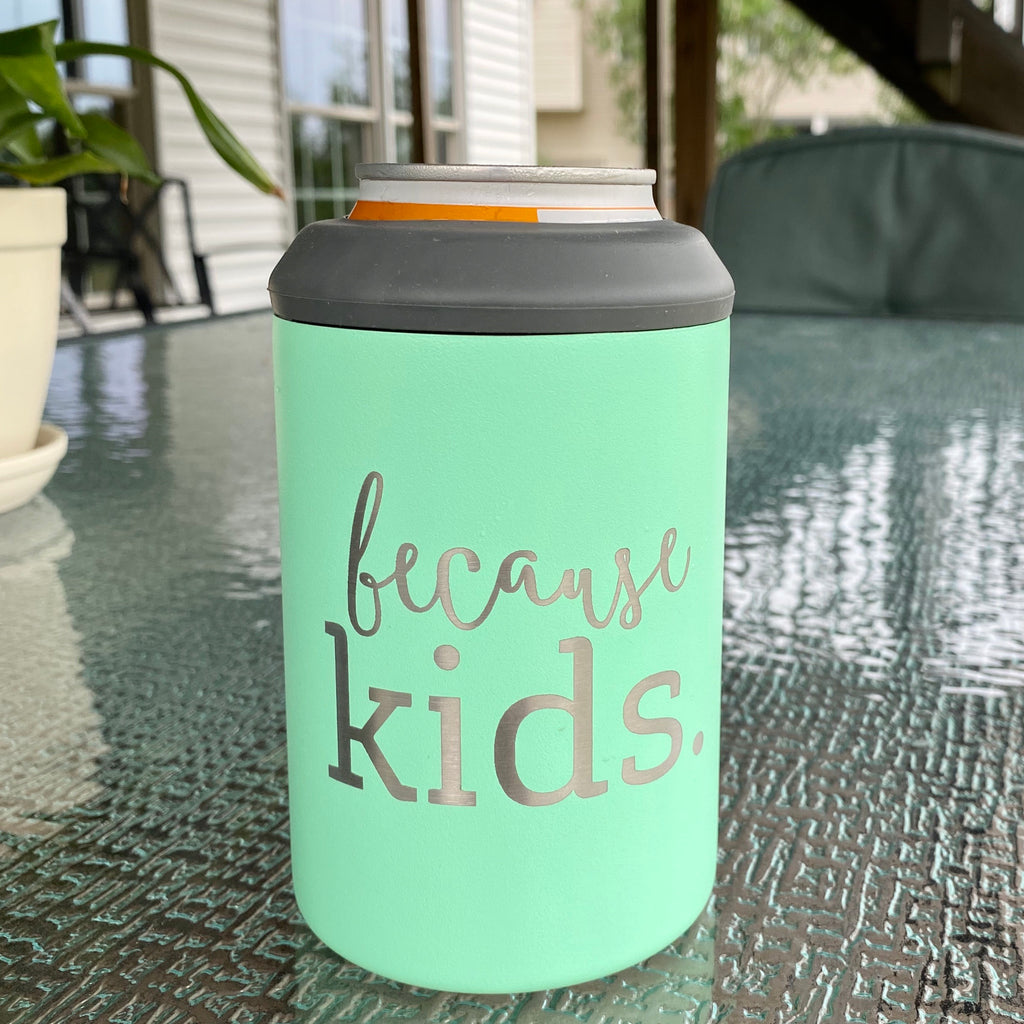 Because Kids Stainless Steel Can Cooler - Mint