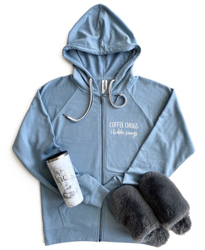Coffee Chugs & Kiddo Snugs Zip-Up Hoodie