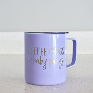 Coffee Chugs & Baby Snugs Stainless Steel Mug Tumbler - Lavender