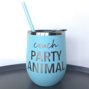 Couch Party Animal Beverage Tumbler - Matte Seafoam