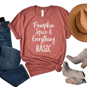 Pumpkin Spice & Everything Basic T-shirt