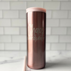 Chaos Coordinator Stainless Steel Tumbler 20 oz - Rose Gold