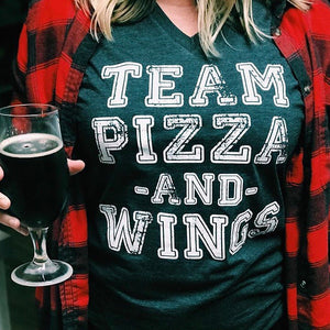 Team Pizza and Wings Tee