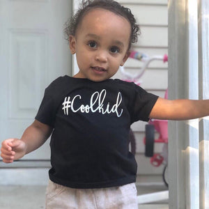 #Coolkid Tee and Onesie - Black