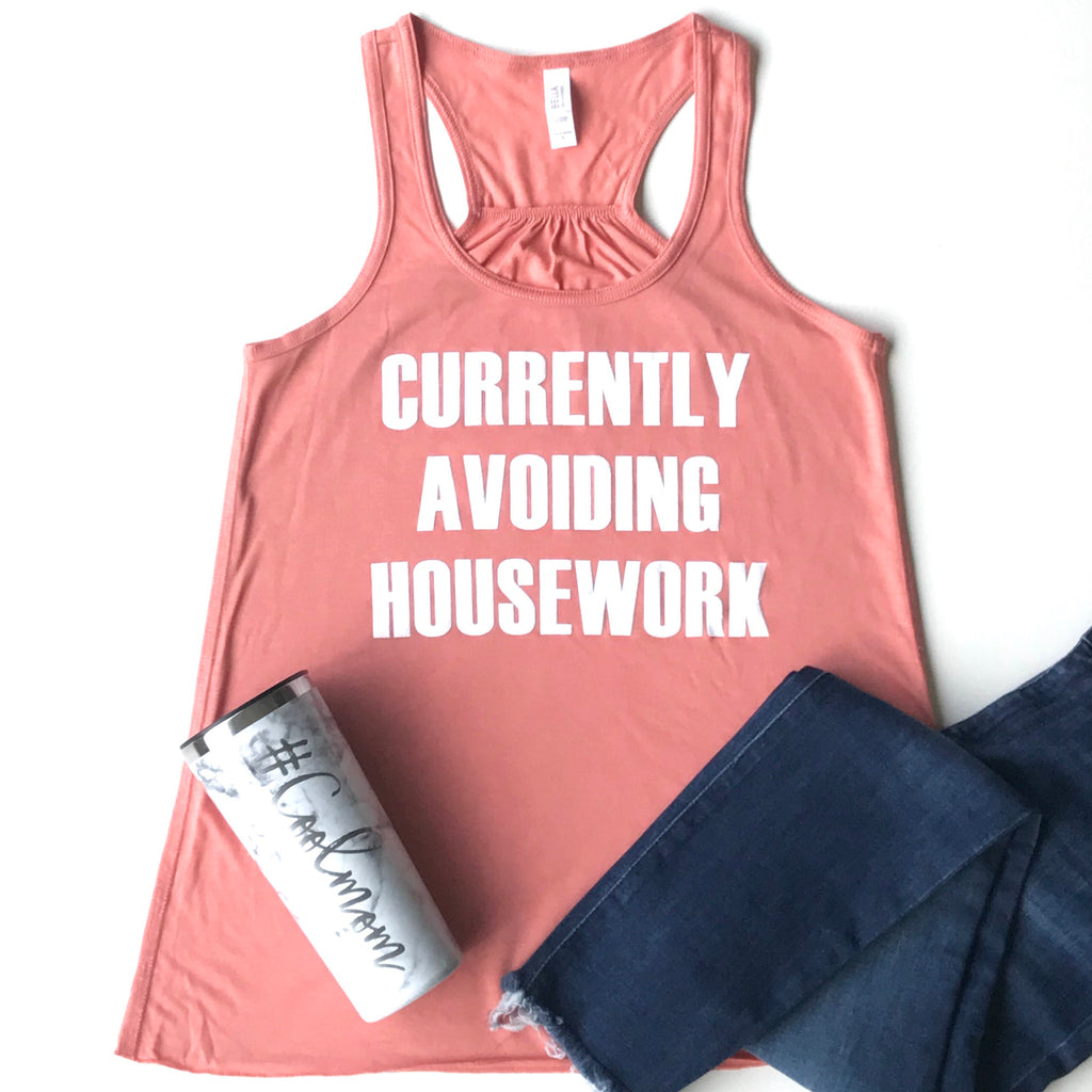 Currently Avoiding Housework Racerback Tank