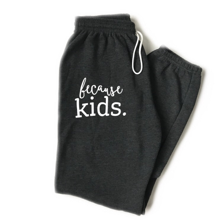 Because Kids™ Sweatpants - Dark Heather Gray