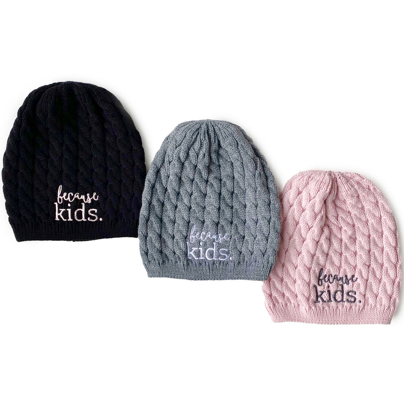 Because Kids™ Knit Beanie Hat