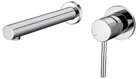 Capri series wall basin mixer - chrome - www.2degs.com.au