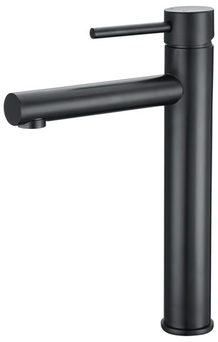Capri series basin mixer tap - black - tall - www.2degs.com.au