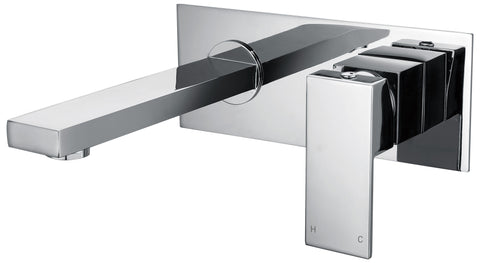 Tirso series wall basin mixer - chrome - www.2degs.com.au