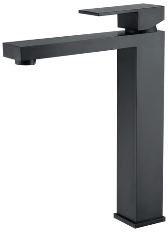 Tirso series basin mixer - black - tall - www.2degs.com.au