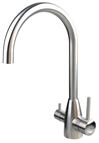 Stainless steel kitchen mixer - rounded - www.2degs.com.au