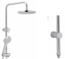 Capri shower set - chrome - www.2degs.com.au
