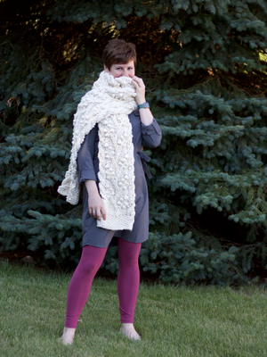 PDF Knitting Pattern: The Frostberry Super Scarf