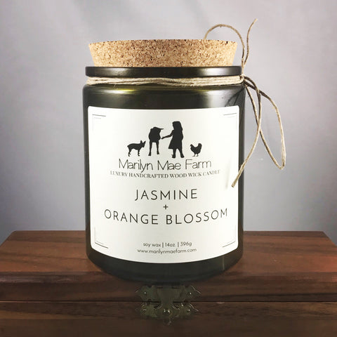 Jasmine + Orange Blossom Luxury Wood Wick Candle