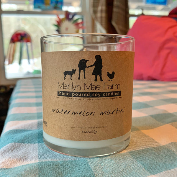 Watermelon Martini Soy Candle