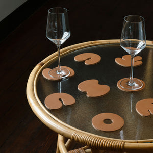 Contour Coasters - Monochrome Tan
