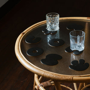 Contour Coasters - Monochrome Black