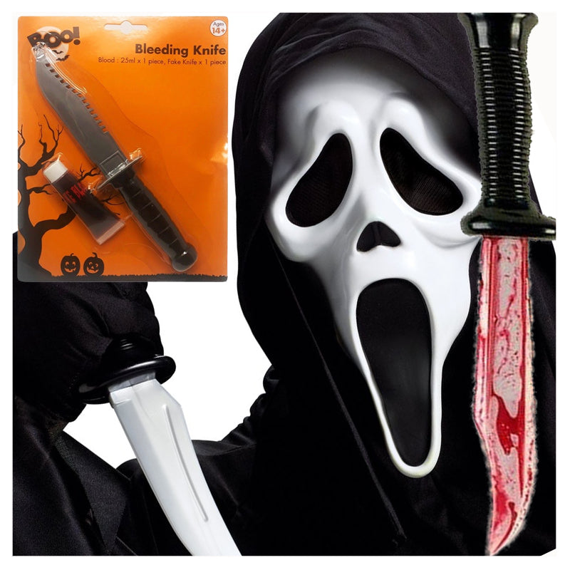 Scary Knife Fake Blood Halloween Decoration by  Its a Done Deal