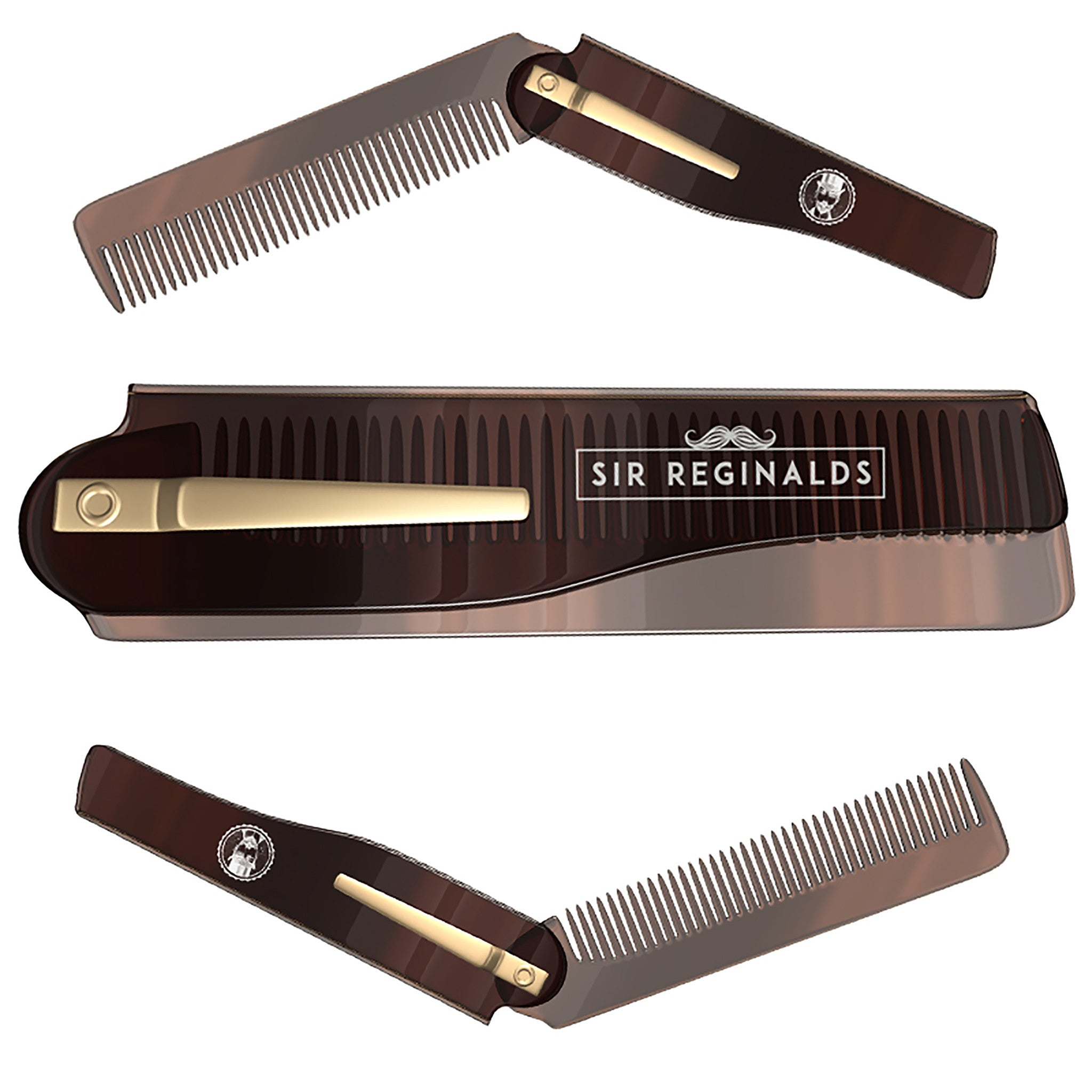 Sir Reginalds Moustache And Beard Comb by Its a Done Deal