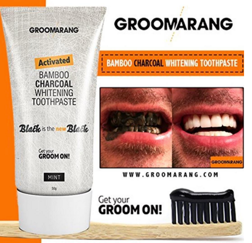 Activated Bamboo Charcoal Teeth Whitening Toothpaste by  Its a Done Deal