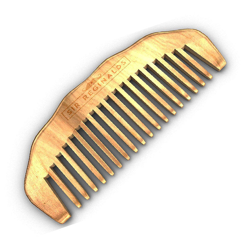 Sir Reginalds Hand Made Sandalwood Beard Comb by Its a Done Deal