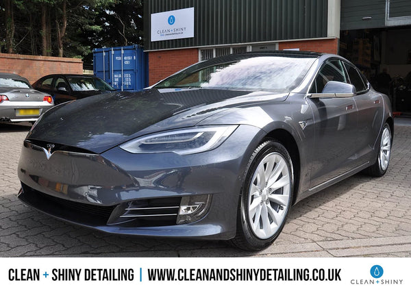 Tesla Model S 90D Detailed by Clean + Shiny Detailing in Hampshire, UK