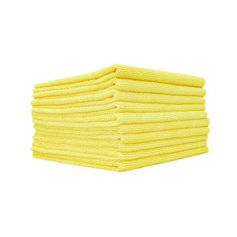 The Rag Company Edgeless 300 All-Purpose 16 x 16 70/30 Microfiber Terry Towel - Yellow