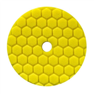 "Chemical Guys 5.5"" Hex-Logic Quantum Heavy Cutting Pad, Yellow"