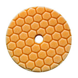 "Chemical Guys 5.5"" Hex-Logic Quantum Medium Cutting Pad, Orange"