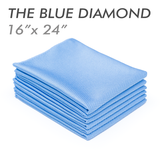 The Rag Company The Blue Diamond 16 X 24 Microfiber Glass Towel