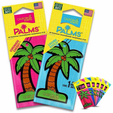 California Scents Palms Hang Outs Air Freshener - Newport New Car