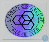 Carbon Collective 40mm Circular Oilslick Sticker