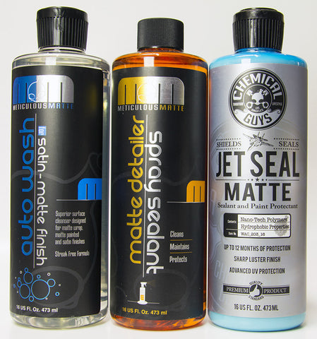 Chemical Guys Matte Finish Wash, Seal & Detail Kit