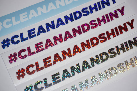 Clean and Shiny Hashtag Cut Vinyl Sticker (Various Colours + Sizes)