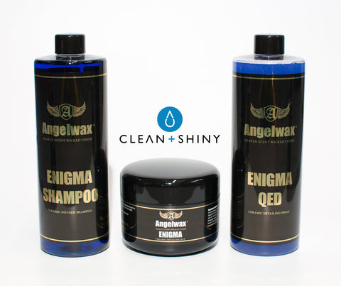 Angelwax ENIGMA CERAMIC SHAMPOO, WAX (250ml) & QED QUICK DETAILER Kit