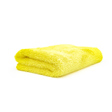 The Rag Company Eagle Edgeless 350 16 x 16 Plush Microfiber Towel - Yellow
